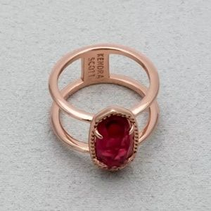 "Kendra Scott ""Elyse"" Size 7 Color Bar Berry Ring"